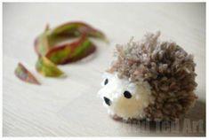 How to make a hedgehog pom pom