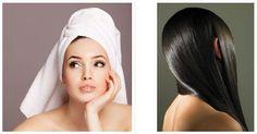 DIY hot oil hair treatment. deep conditioning