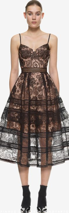320bdc512f3fd Self Portrait - Paisley Midi Dress #selfportrait Lace Midi Dress, Midi  Skater Dress,
