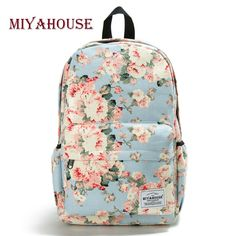 Fresh Style Women Backpacks Floral Print Bookbags Canvas Backpack School Bag For Girls Rucksack Female Travel Backpack Miyahouse Fresh Style Women Backpacks Floral Print Bookbags Canvas Backpack School Bag For Girls Rucksack Female Travel Backpack Floral Backpack, Backpack Purse, Laptop Backpack, Travel Backpack, Fashion Backpack, Rucksack Backpack, Laptop Bags, Cute Backpacks, Girl Backpacks