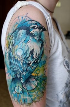 bird tattoo arm
