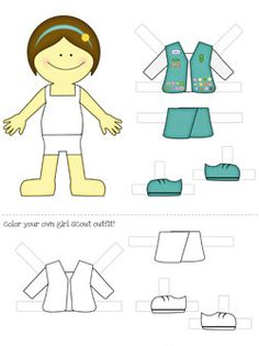 Printable Paper Dolls: Girl Scouts Dress Up!
