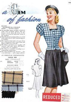 late 1940's (1949) Maisonette Frocks Salesman's Sample Card