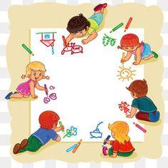 Happy Children's Day, Happy Teachers Day, Happy Kids, Happy Boy, Art Drawings For Kids, Drawing For Kids, Art For Kids, School Border, Powerpoint Background Design