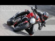 2016 Ducati Monster 1200 R First Ride - MotoUSA - YouTube
