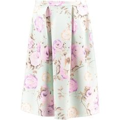 5ef4cfa926 Boohoo Arabella Pastel Floral Midi Skater Skirt ($14) ❤ liked on Polyvore  featuring skirts, floral circle skirt, white circle skirt, white knee  length ...