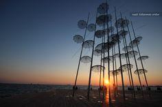 #Greece #Thessaloniki #Yunanistan #Selanik #Umbrellas #Şemsiyeler #Sunset #Günbatımı