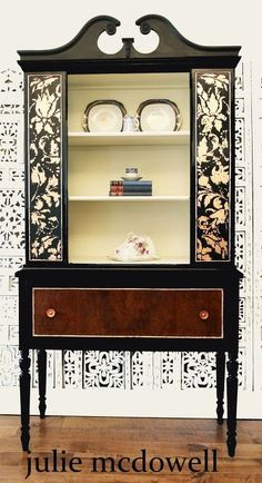 Sideboards like these are hard to find where I live in Vancouver, BC. The legs are so elegant. And guess what? I had a matching china cabinet too! How lucky a… Hutch Makeover, Furniture Makeover, Diy Furniture, Accent Furniture, Furniture Repair, Furniture Refinishing, Repurposed Furniture, Unique Furniture, Buying A Manufactured Home