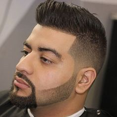 High Taper Fade + Shape Up + Comb Over