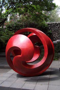 Landscape, A Swirling Design Garden Sculptures & Statues: Rocking Garden Sculpture and Statues for The Contemporary Touch