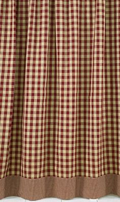York shower curtain from Park Designs. cotton fabric in wine plaid. Measures x Shower curtains have sewn buttonholes for hanging from shower curtain hooks. Shower curtain liner is recommended. Primitive Homes, Primitive Country Bathrooms, Primitive Kitchen, Rustic Bathrooms, Country Primitive, Primitive Crafts, Primitive Decorations, Primitive Shower Curtains, Rustic Shower Curtains