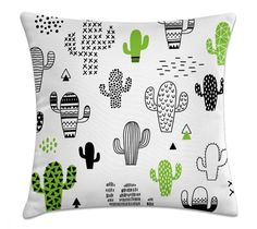 AENEY Cactus Home Decorative Throw Pillow Case Cushion Cover Cotton Linen Home Decor for Couch Sofa Bed Chair 18 X 18 Inch * Learn more by visiting the image link. (This is an affiliate link) Decorative Pillow Cases, Throw Pillow Cases, Decorative Throw Pillows, Pillow Covers, Sofa Couch Bed, Sofa Pillows, Cushions, Machine Wash Pillows, Pillow Arrangement