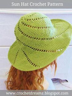 Crochet Sun Hat Pattern Hat Crochet 56993aa1f73