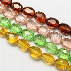 Glass Bead Strands GLAA-S003-16x13mm-M-1