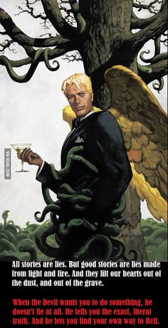"""Whenever a Marvel Fan says that """"Mephisto is a Complex Devil."""" I show them This. Lucifer The Morningstar."""