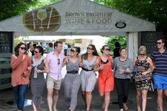 Friends having a fine time with Prosecco at the Brown Brothers Wine and Food festival. Wine And Food Festival, Tourism Website, Major Events, Wine And Beer, Prosecco, Wine Recipes, Victoria, Friends, Brown