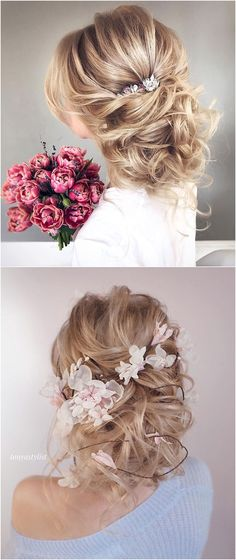 Flowers & Beauty updo low bun enchanting hairstyle romantic wedding hairstyles for long hair #naturallycurly #weddinghair updo low bun | updo low bun wedding | updo low bun hairstyles | updo low bun with braid |