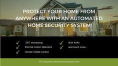 Smart Home Security System - EzHomeAutomation Wireless Home Security, Smart Home Security, Security Cameras For Home, Home Security Systems, Smart Home Automation, Home Safety, Protecting Your Home, Door Locks, Business Opportunities