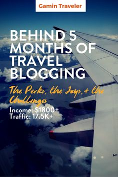 Monthly Report: Behind 5 months of Travel Blogging, earning more than 1K