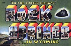 Rock Springs, Wyoming. #vintage #postcard #wyoming