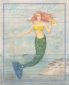 """Creature Mermaid HD Canvas prints Painting Home Decor  Picture Wall art 16/""""x26/"""""""