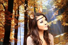 deer halloween makeup - The 10 Best Halloween Makeup Looks to Try in 2013! - StorybookApothecary.com #halloween #makeup #beauty #costume