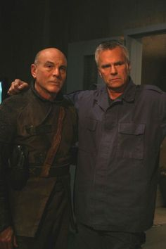 Carmen Argenziano and Richard Dean Anderson
