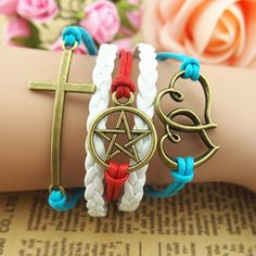 Bracelet- God in our heart bracelet,cross bracelet,heart to