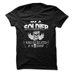 Worship soldier T-Shirts, Hoodies. VIEW DETAIL ==► https://www.sunfrog.com/LifeStyle/Worship-soldier.html?id=41382