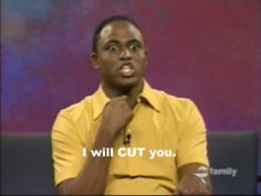 See Wayne Brady on ALL NEW Whose Line episodes Tuesdays at 8p/7c on The CW!  Wayne Brady I Will Cut You