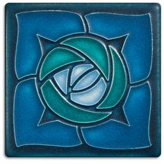4x4 Rosie O'Grady - Turquoise from Motawi Tileworks