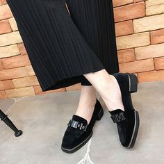 LALA IKAI women Slip-On shoes with zipper Chain decoration Female Footwear Loafer Square Toe Shoes for ladies XWA0523