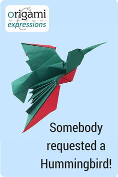 A page about Jesse Barr's origami Hummingbird model. Includes thoughts on folding, paper choice and where to get folding instructions. via @origami_express