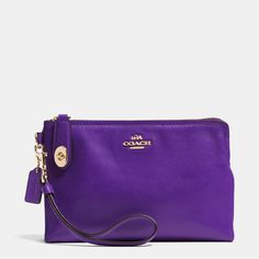 Large Pouch Wristlet in Leather