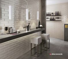 Chic tiles resemble jewels on the wall | Brick Atelier by Atlas Concorde