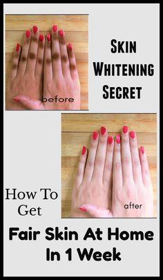 Skin Whitening Secret : How To Get Fair Skin At Home In 1 Week #skinwhitening #skinwhiteningremedies #diyskinwhitening #skinwhiteninghowto #fairskin #homeremedies