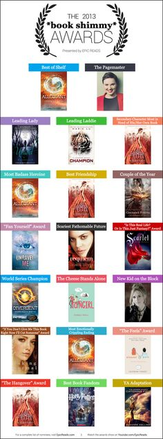 The winners from The 2013 #BookShimmyAwards Allegiant def deserved Most Emotionally Crippling Ending ~Divergent~ ~Insurgent~ ~Allegiant~
