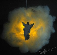 Catholic Inspired ~ Arts, Crafts, and Activities!: The Ascension Glowing Cloud Craft Jesus Crafts, Bible Story Crafts, Catholic Crafts, Catholic Kids, Church Crafts, Kids Church, Church Ideas, Catholic School, Bible Stories
