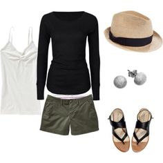 Cute! The sandals, the fedora, add a long necklace & it's perfect casual for spring