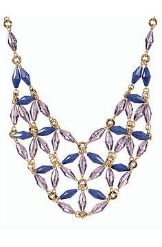 Talbots - Teardrop Flower Bib Necklace | Jewelry |