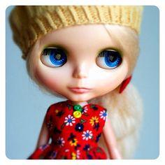 My beautiful Adelaide Grace, so sweet and gentle. I adore her. #kenner #blythe - @janellewind- #webstagram