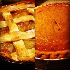 Pie war! What's your pick apple or pumpkin?  #thanksgiving #pie #applepie #pumpkinpie #food #foodporn #youchoose #yum #getinmybelly