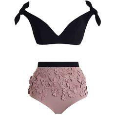 ZIMMERMANN Winsome Posy Bikini ($555) ❤ liked on Polyvore featuring swimwear, bikinis, bikini, swim, beach, swinsuit, bikini tops, tie bikini top, swimsuit tops and padded bikini tops