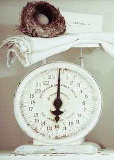 White vintage scale