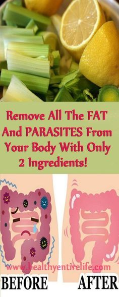 Remove fat and parasites