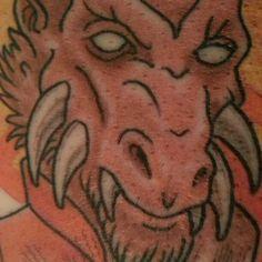 my newest tattoo. ♡ close-up #larfleeze #avarice #orange #lantern #agentorange #dccomics #comics #comicbooks #greenlantern #brightestday #blackestnight #tattoo #tattoos #jesus #jesuschrist #easter #sacredheart #sacred #heart