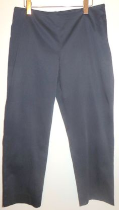 Womens Ralph Lauren Navy Stretch Capri Crop Pants Inseam 26 1/2 Size 12 #RalphLauren #CaprisCropped