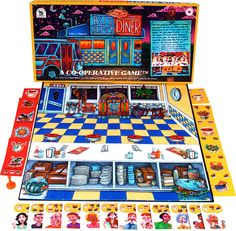 #cooperative #games at www.cooperativegames.com Bus Depot Diner the cooperative game about small business for all ages