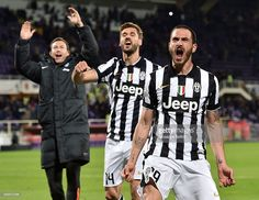 Leonardo Bonucci of Juventus FC celebrates the victory after the TIM cup match between ACF...