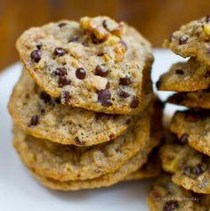 Walnut Lovers' Chocolate Chip Cookies. Vegan. ( giveaway)